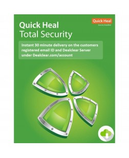 Quick Heal Total Security Latest Version - 5 PCs, 1 Year (Email Delivery in 2 hours/CD)
