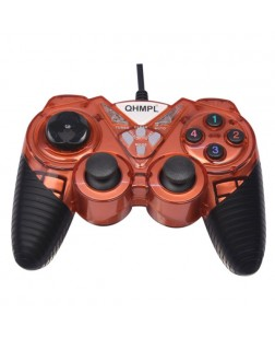 Quantum QHM7487-2V-C Gamepad  (Red, For PC)