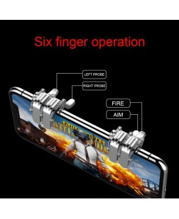 Gamers Yard L1R1 Mobile Game Controller for PUBG/Knives Out/Rules of Survival Compatible with Android iOS Phones (Transparent)