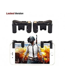 Mobile Game Controller [Upgraded Version 2018 Gen],Sensitive Fire Shooting and Aim Gaming Trigger Buttons L1 R1 (1 Pair) for PUBG Mobile Android & iOS Smartphone (with Trigger Carrying Case)