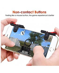 Mobile Phone Gaming Trigger for pubg ROS Fire Shooter Controller Button Aim Key L1 R1 (Triggers Only)