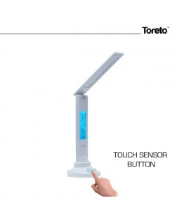 Toreto TOR-103 Touch Led Lamp with Alarm,Clock & Calendar Feature