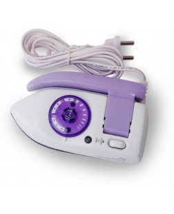 Ozomax Sleek Travel Dry Iron (White & Purple) BL-154-SL