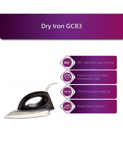 Philips GC83 750-Watt Dry Iron (Black)