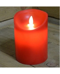 Dancing Flame Battery Operated Candles for Diwali / Gift or Wedding Purpose (White / Red, Pack of 8)