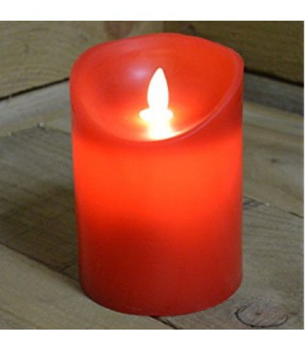 LED Floral Flameless Tea light Candle Battery-Operated For Diwali, Wedding, Holiday Christmas Party Decoration (White / Red, Pack of 12)