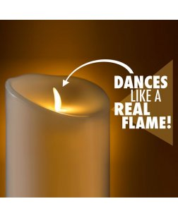 Diwali Home Decoration Swing Flameless LED Electronic Candles (Red / White, Pack of 2)