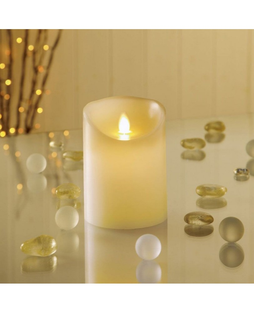 Flameless led candles with dancing flame battery operated candles melted design pillar candle for diwali gift