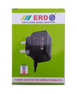 ERD 12V DC 1Amp Power Adapter For CCTV Camera, DVR, Set-Top-Box & More (Switching AC to DC)