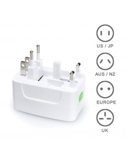 Universal Travel Adapter EU/UK/US/AU style plug available, suitable to be used worldwide