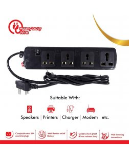 ProDot Prolite 4 Socket Spike Buster Power Strip Extension Surge Protector for PC, Laptops, Mobile Devices (1.5 M Wire)