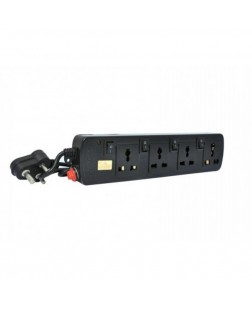 ProDot Prolite 4 Socket Spike Buster Power Strip Extension Surge Protector for PC, Laptops, Mobile Devices 2.5 M