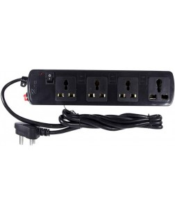 ProDot Spike Buster Power Extension for Electronics, PC and Laptops 6 Socket Surge Protector (Black)