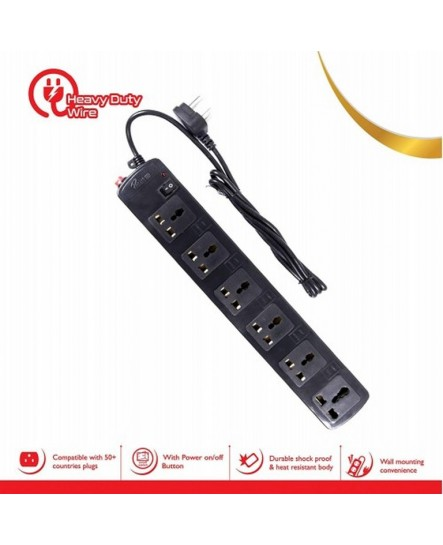 Prodot SURGE PROTECTOR 1.5M 6 sockets Power Board (PRD-SPIKE-SB)