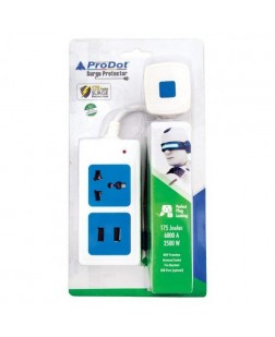 Prodot SURGE PROTECTOR 1.5M 1 Socket Power Board (PSP-1S1U)