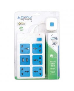 Prodot SURGE PROTECTOR 1.5M Power Board 5 Sockets (PSP-5S1U)