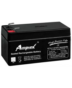 Amptek 12v 1300 Mah Sealed Maintenance Free Battery (12V-1.3Ah)