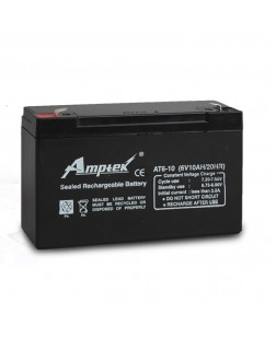 Amptek 6V 10mAh Sealed maintenance Free Battery (6V-10mAh)