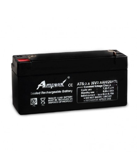 Amptek 6V 2.8mAh Sealed maintenance Free Battery (6V-2.8mAh)