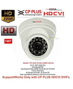 CP Plus High speed/ Day and Night(ICR) 1 Mp with IR LEDs length 20m (White)