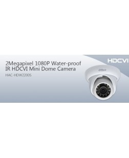 Dahua 2 MP CCTV dome camera, with night mode(IR) capability for home and office