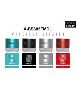 iSonix X-BS687FMDL Wireless Portable Bluetooth Speaker