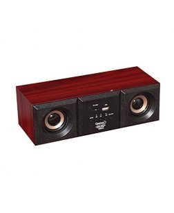 Quantum Hi Tech QHM 6333 Bluetooth Speaker With Micro USB Light Wooden (Black)