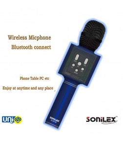 Sonilex BS 189 Condenser Handheld Bluetooth Microphone Stand with Speaker Audio Recording for Cellphone