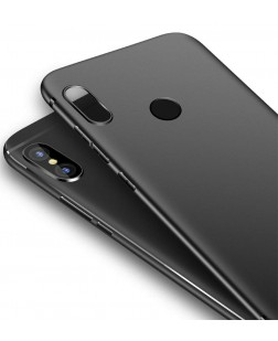 Ipaky Mi Redmi Note 5 Pro Back Cover Case with Camera Protection (Black Matte)