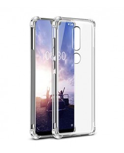 Ipaky Nokia 6.1 Plus Shock Proof Protective Soft Transparent Back Cover