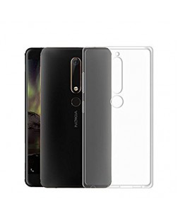 Ipaky Nokia 6.1 Back Cover Transparent Clear Crystal Thin Soft Case