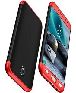 Ipaky Samsung Galaxy J7 Pro Premium Shockproof 3 in1 Full Body Protection Back Cover Case