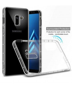 Ipaky Samsung Galaxy J8 Premium Quality Rock Series Transparent Exclusive Soft Back Cover