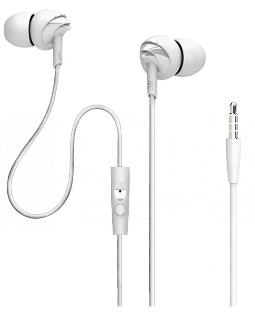 34e58536625 Buy boAt Bass Heads 110 In Ear Headphones with Mic (White) Online at ...