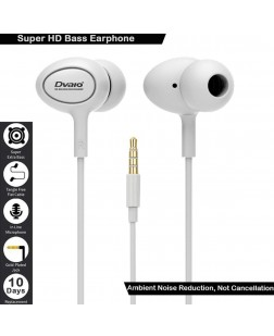 Dvaio D3 Original in Ear Earphones with Mic & Super HD Bass Stereo for Honor 9 lite