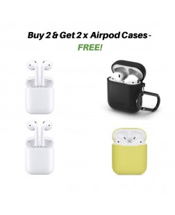 AirPods Bluetooth Headset with Mic (White, In the Ear)