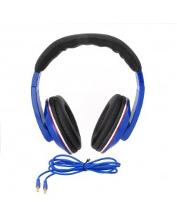 iNext IN-909HP Wired Headphone with Detachable Aux (Blue)
