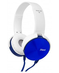 iNext Extra Bass Wired Headset IN-911 HP (White & Blue)