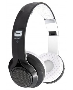 iNext Black Wired bluetooth Headphone with in-built Microphone (IN-914BT)