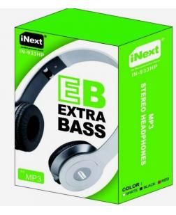 iNext Headphone Extra Bass Wired Headset Black (IN-933HP)