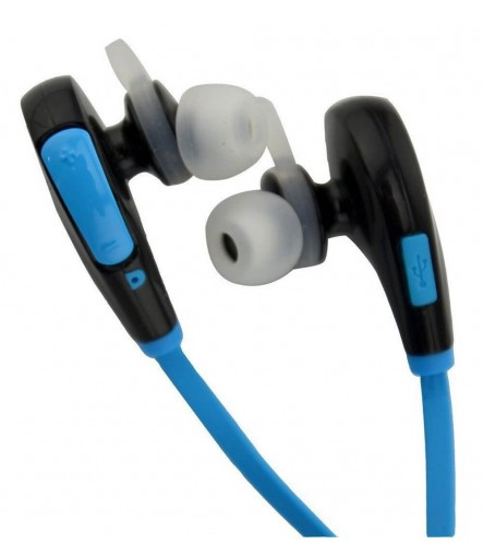 JOGGER Wireless Sports Headphones with Mic, Sweatproof Earbuds, Best for Running and Gym (Blue)