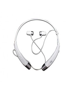 RIVIERA RBHF-02 Bluetooth Headphone with Bass Drivers and Magnetic Lock for All Devices (White)