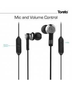 Toreto TOR-58 Precision Fit Ear Canal Design Wired Earphone