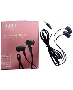 Ubon BM-03 Bomb Universal Audio Bass In Ear Earphone / Ubon Headphone (Black)