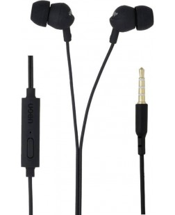 Ubon GS-311R Ear Friendly Wired Headset with Mic  (Black, In the Ear)