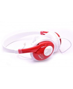 UBON GHP-222A On Ear Pc Headphones/Laptop Headphones/Mobile Headphones/Computer Headphones with Pure Bass Without Mic - Red