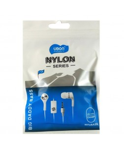 Ubon GP-311N/CHAMP Nylon Big Daddy Bass Series Earphone (Black and White)