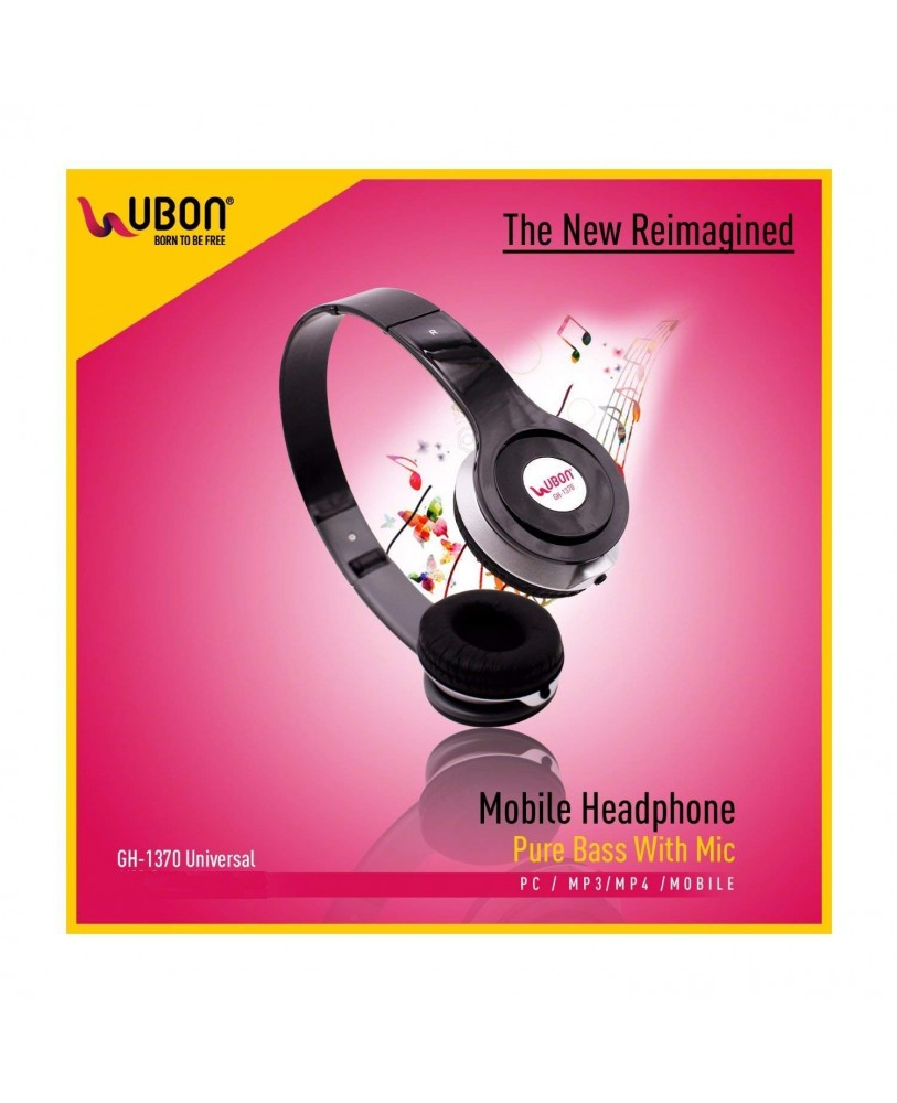 69731d01670bfa Ubon UB 1370 Price: Buy Ubon UB-1370 Headphones with Mic Online at ...