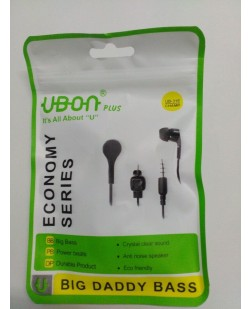 Ubon UB-31E Champ Big Daddy Bass Headsets Earphones Headphones (White)