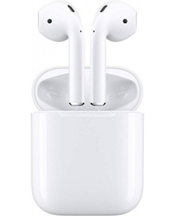 Apple Twin Wireless Bluetooth Headset, Headphones with Hands Free Mic, Stereo Sound, Thumping Bass for iPhone, iPad & Android - with Charging Case